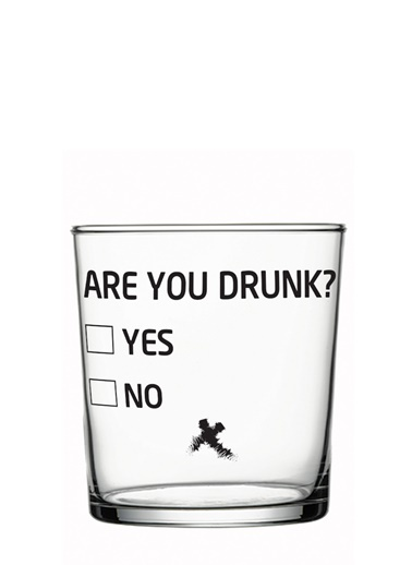 Are You Drunk Tasarım Bardak-Rakle